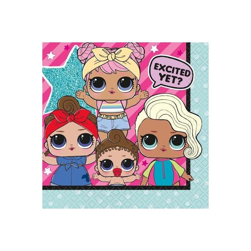 L.O.L. Surprise! Napkins 13х13 cm | L.O.L Surprise! dolls