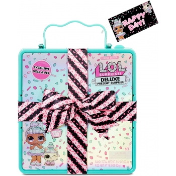 L.O.L. Surprise! Deluxe Present Surprise with Limited Edition Sprinkles Doll and Pet, Teal.jpg