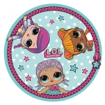 L.O.L. Surprise! Round towel (blue)
