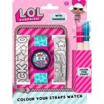 LOL Surprise!  Digital watch paint straps