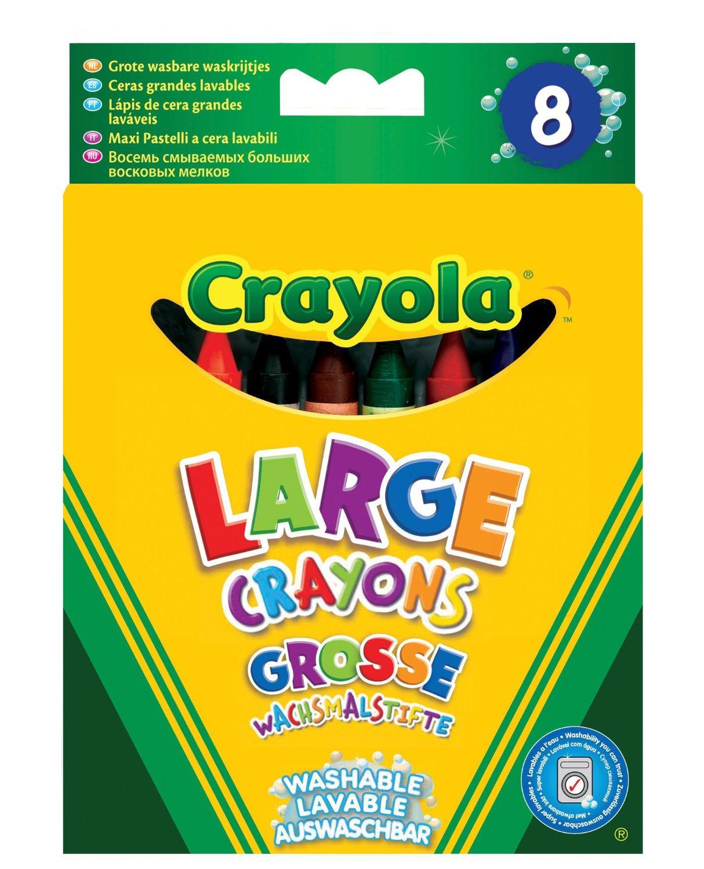CRAYOLA 8 suurt pestavat rasvakriiti Ultra