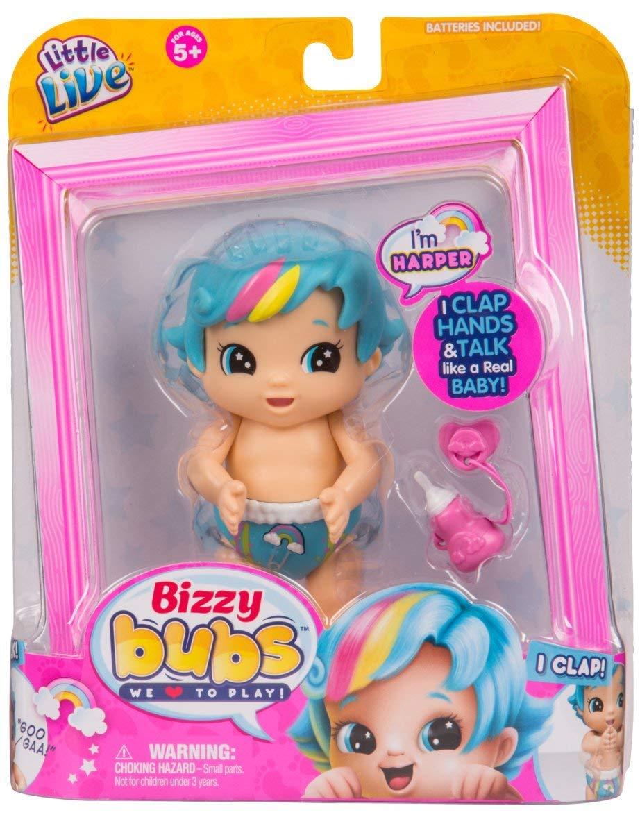 "MOOSE LITTLE LIVE BIZZY BUBS Plaksutav beebi ""Harper"" (Seeria 2)"