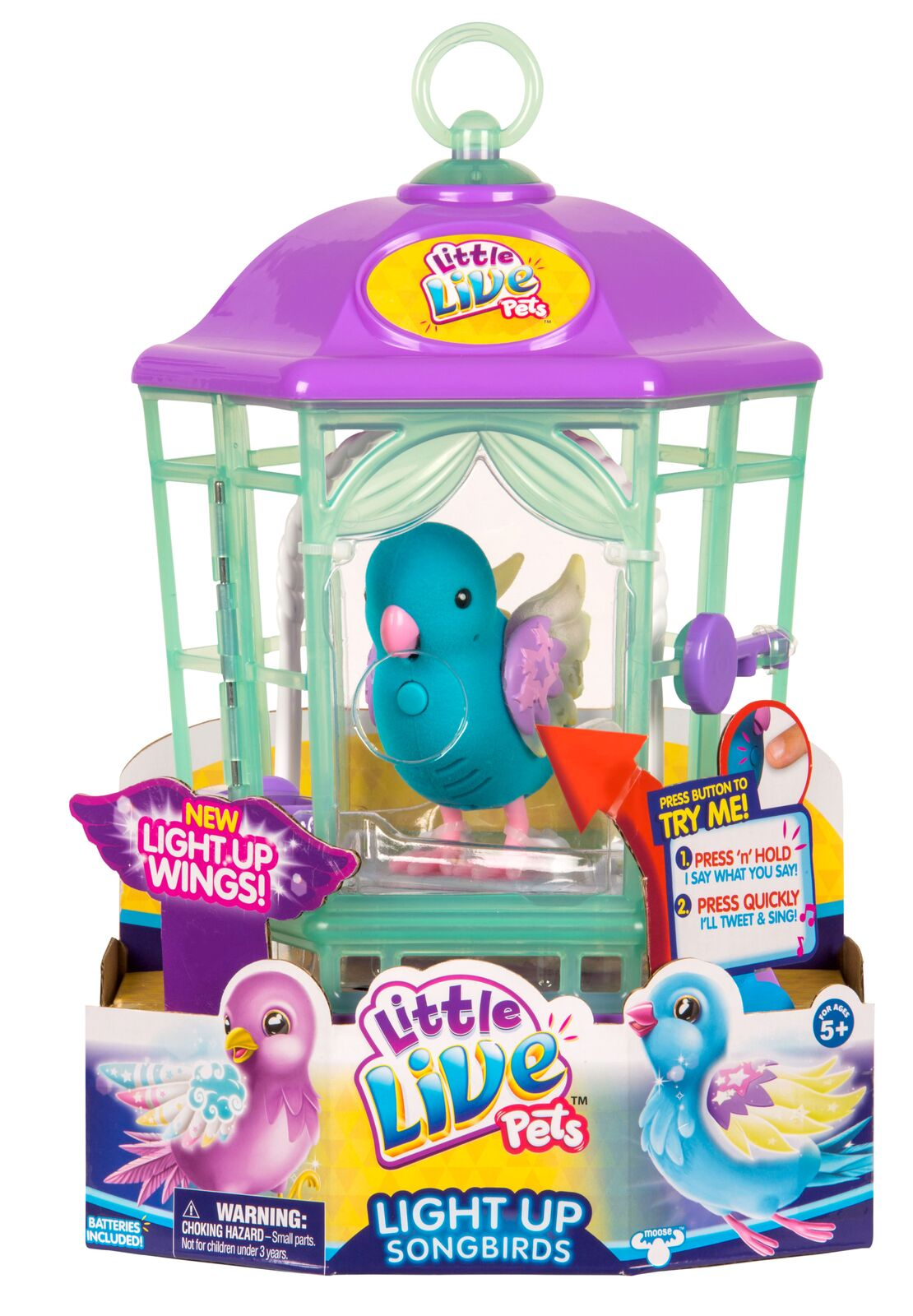 LITTLE LIVE PETS BIRD S8 WITH CAGE, ASSORTMENT 2