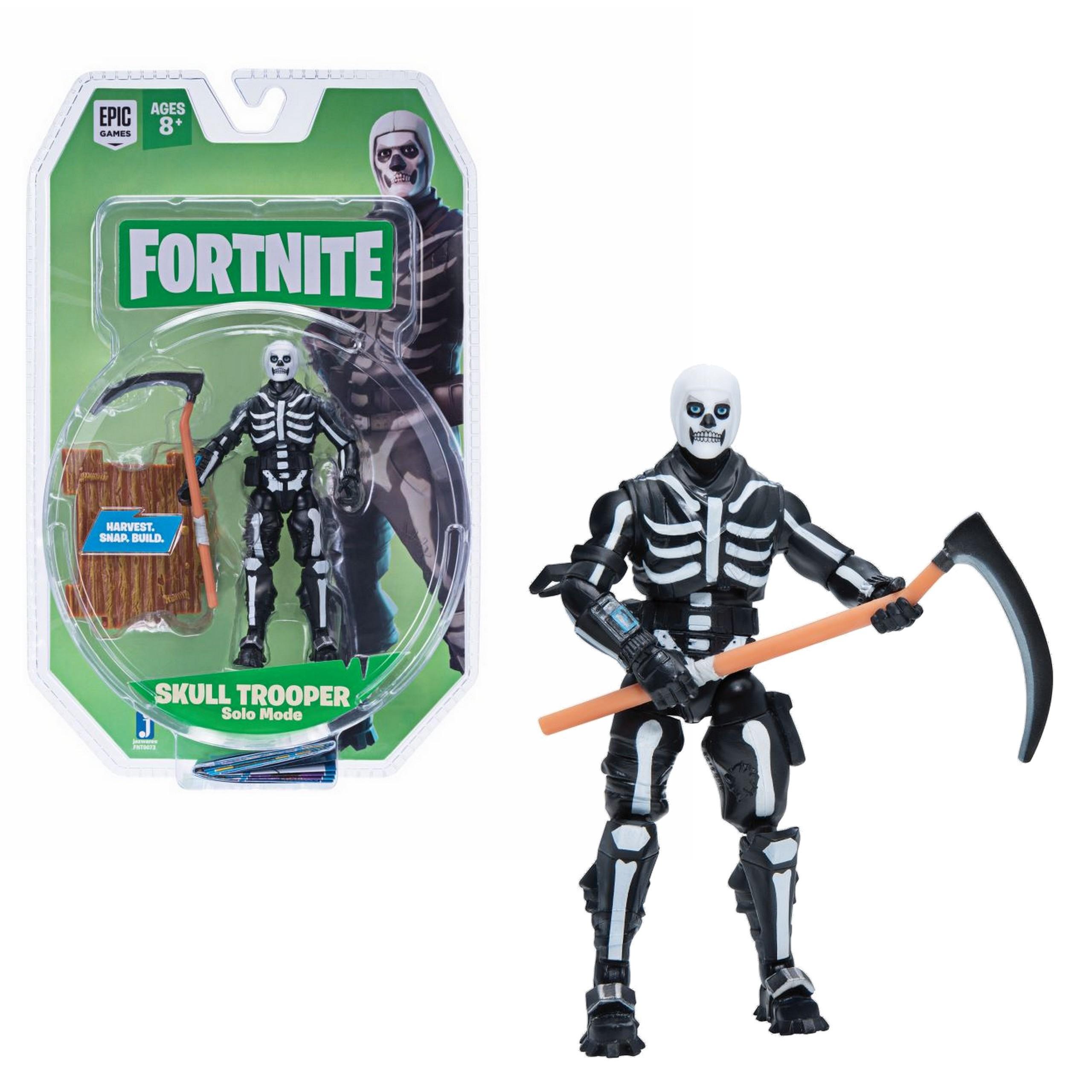 JAZWARES FORTNITE Solo Mode 1 hahmo - Skull Trooper 10 cm