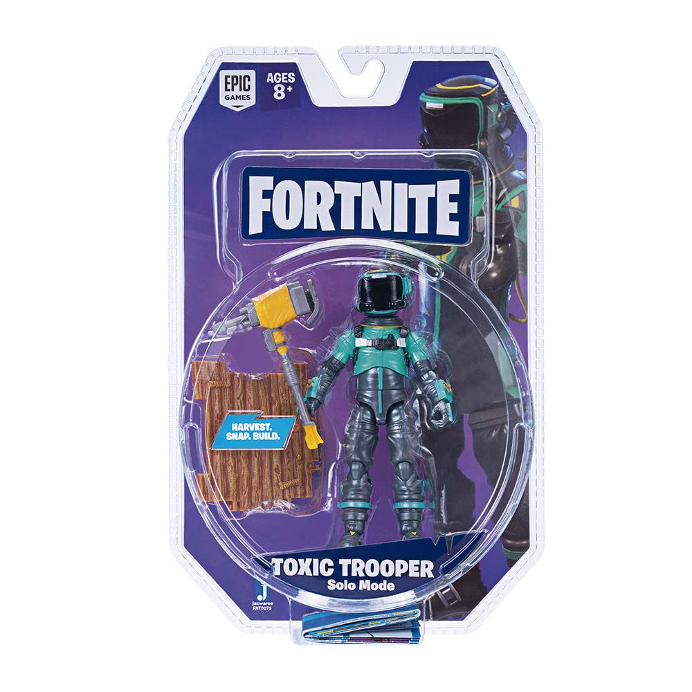 JAZWARES FORTNITE Solo Mode Figure - Toxic Trooper 10 cm