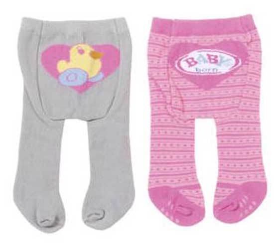 BABY BORN TIGHTS 2 PAIRS, 4 ASST