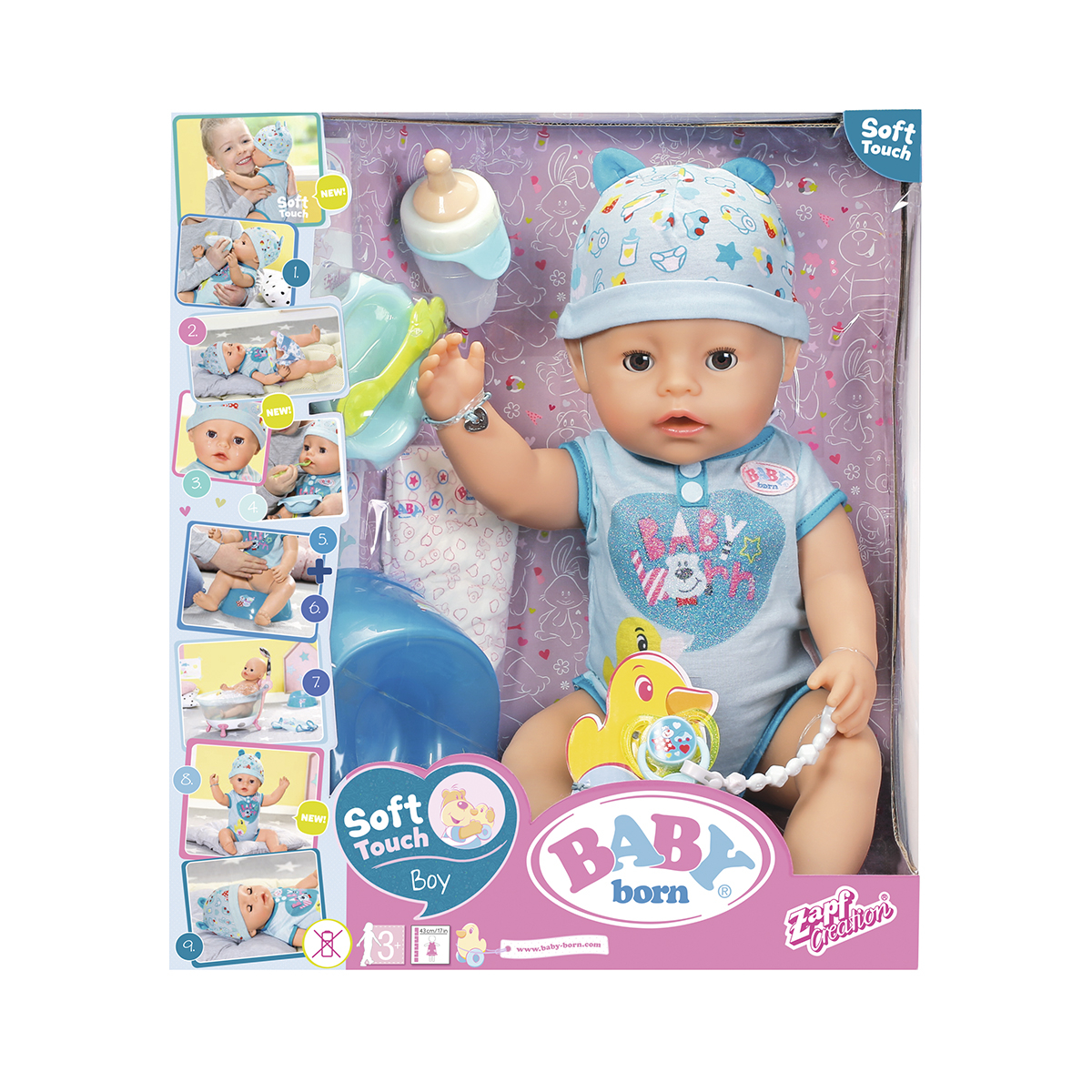 BABY BORN INTERACTIVE DOLL SOFT TOUCH BOY 38 cm