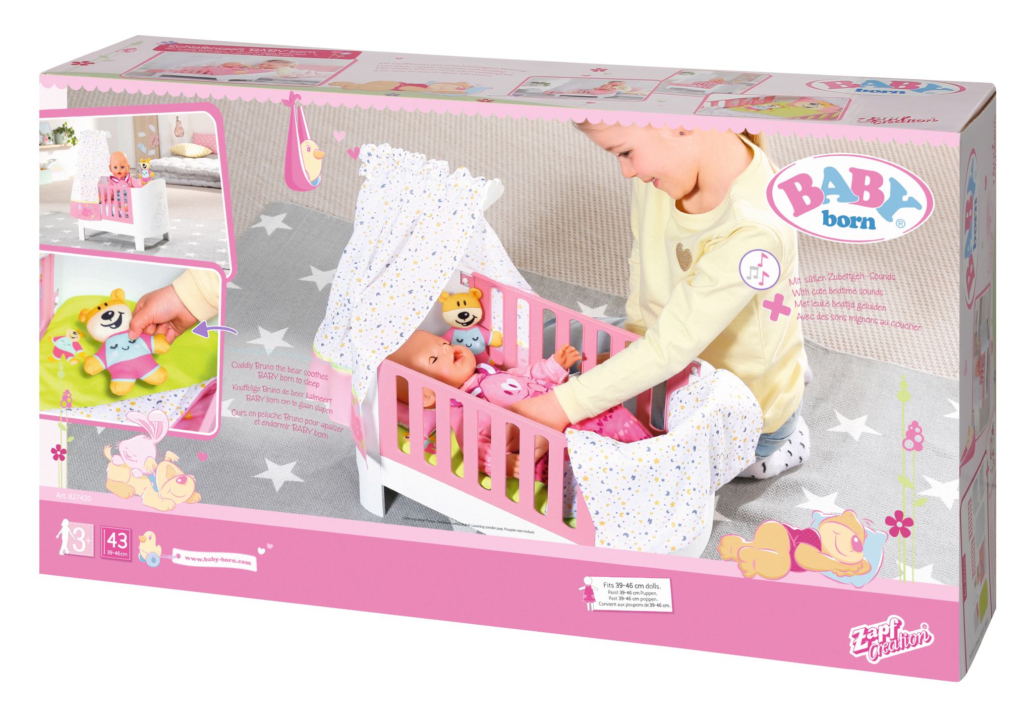 ZAPF BABY BORN Interactive Magic Bed Heaven with sounds