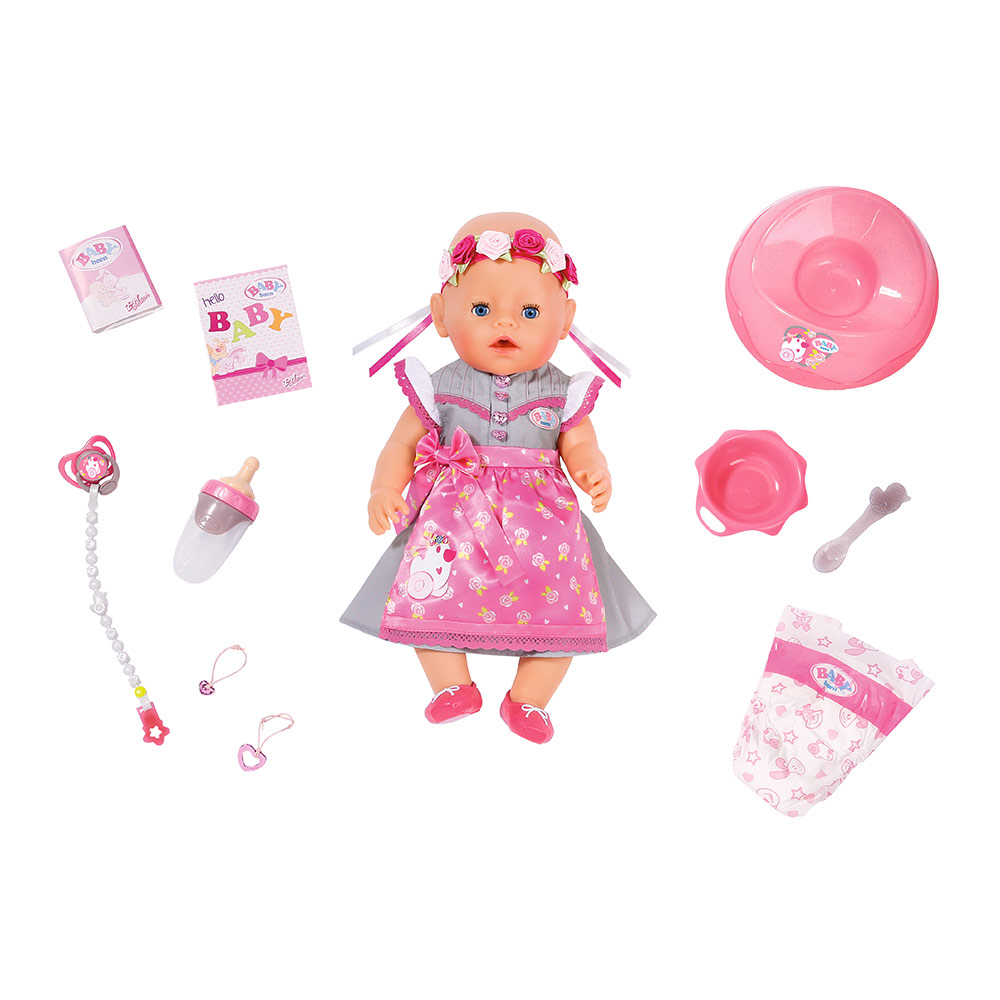 ZAPF BABY BORN Octoberfest styled soft touch doll 43 cn