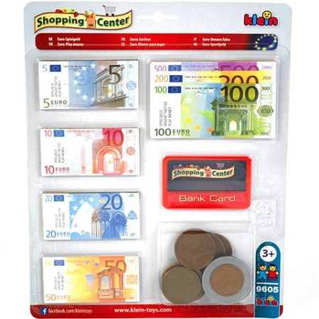 EURO MONEY WITH CREDIT CARD, BLISTER (LARGE COINS)