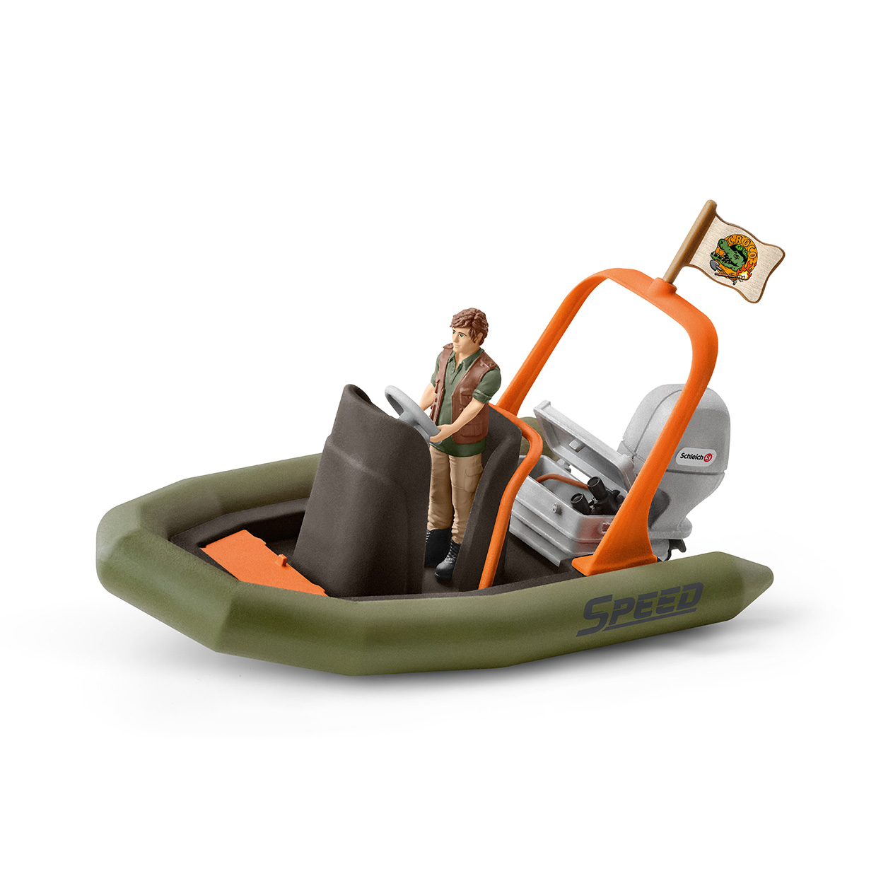 SCHLEICH DINGHY WITH RANGER