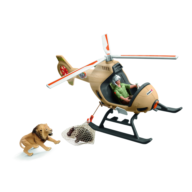 SCHLEICH Helikopteriga loomade päästmine