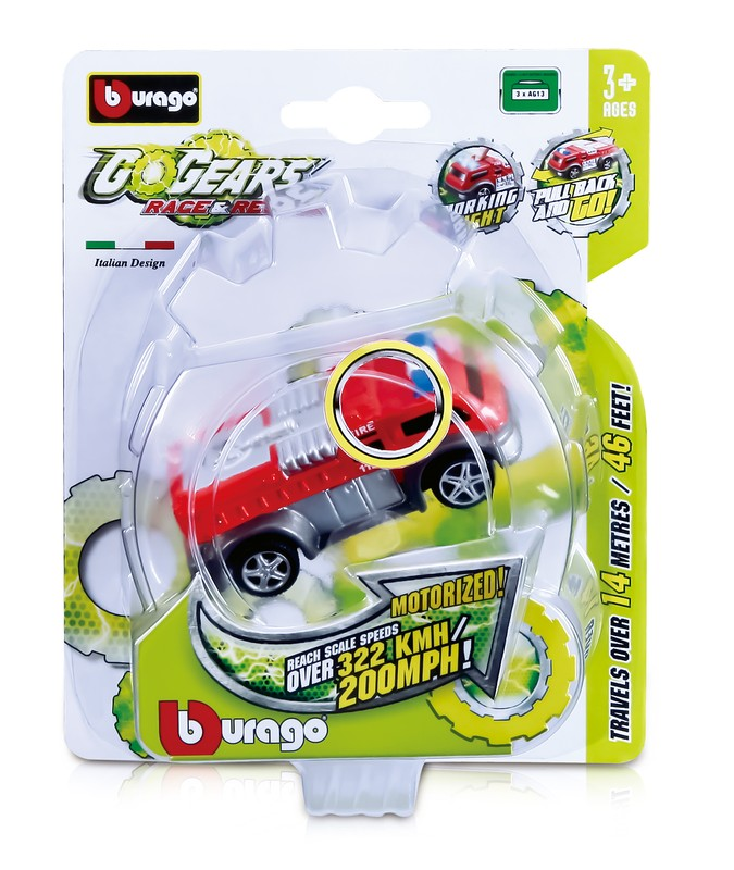 BBURAGO 1:55 GO GEARS EMERGENCY VEHICLE WITH LIGHT, TRY-ME
