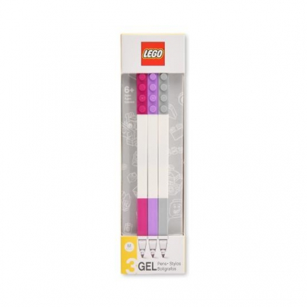 LEGO 2.0 GEL PENS 3 PCS (Violet, Lavendar, Grey)