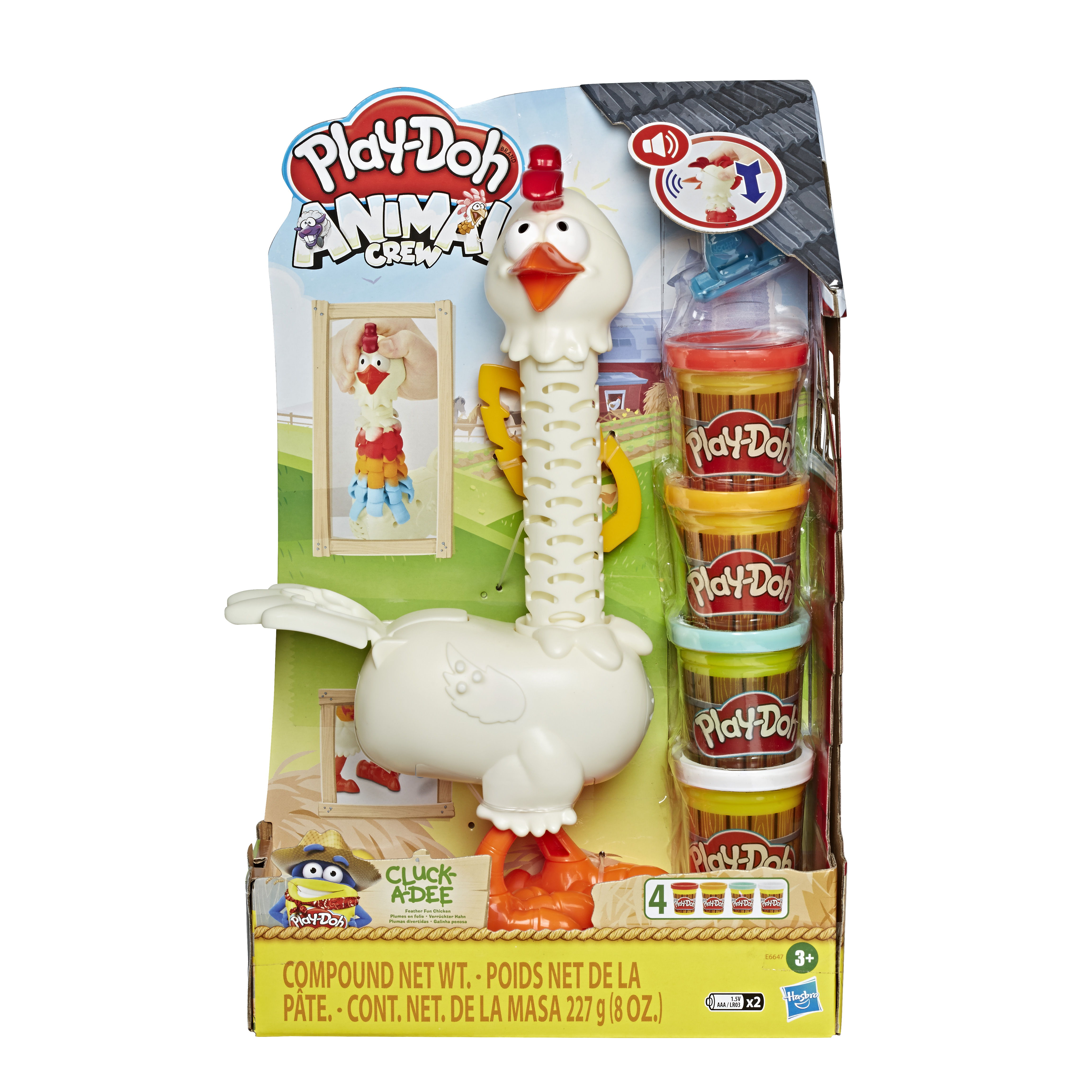 HASBRO PLAY-DOH Cluck A Dee Feather Fun Chicken