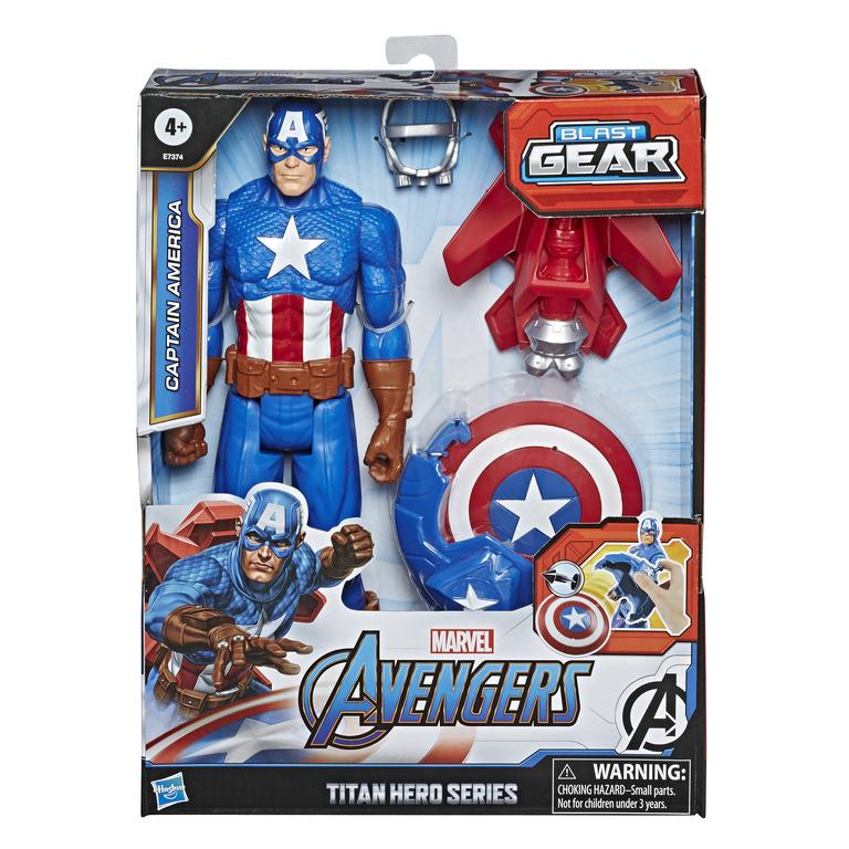 HASBRO AVENGERS Titan Hero Blast Gear Captain America-hahmo