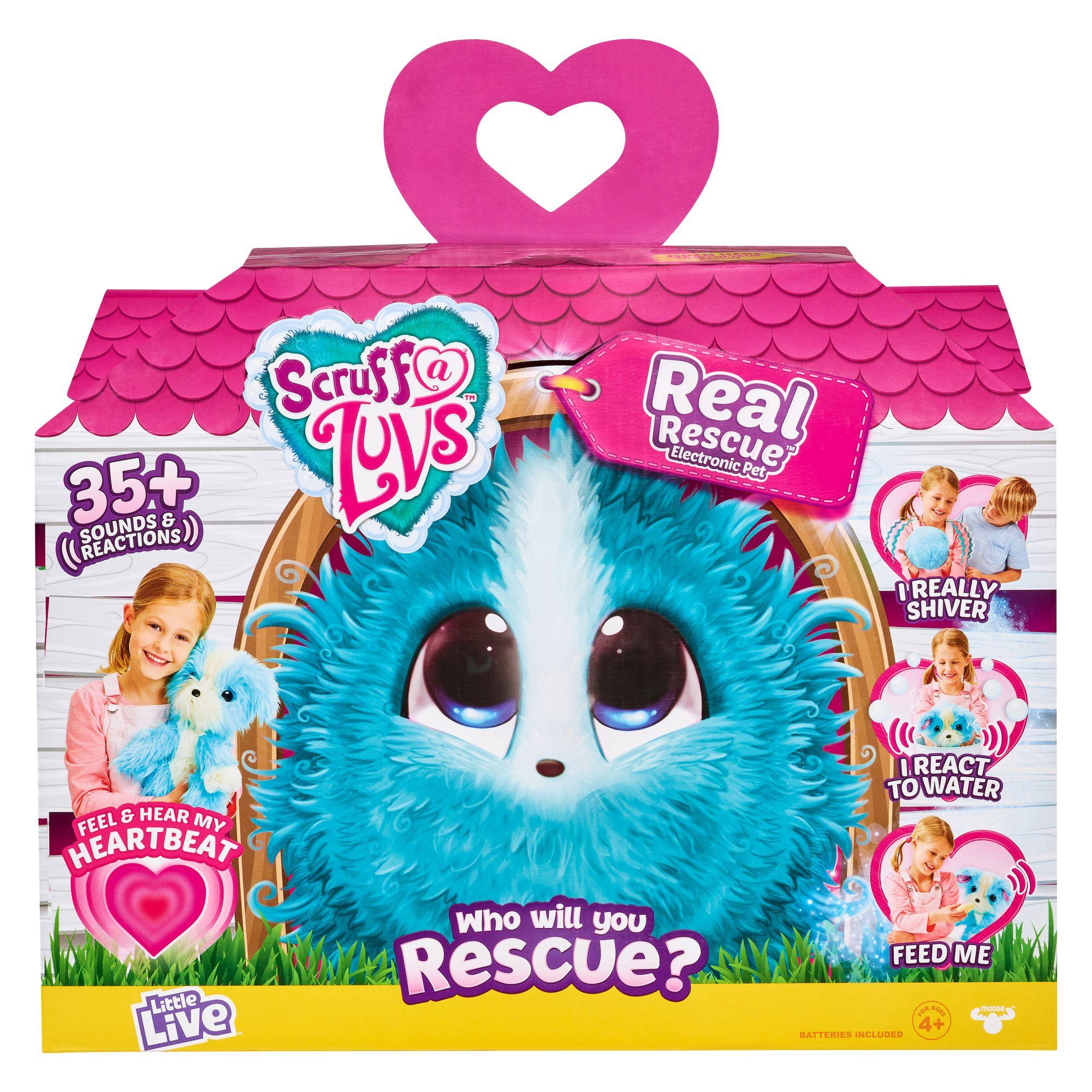 "MOOSE SCRUFF-A-LUVS Interaktiivinen lemmikki ""Real Rescue"""