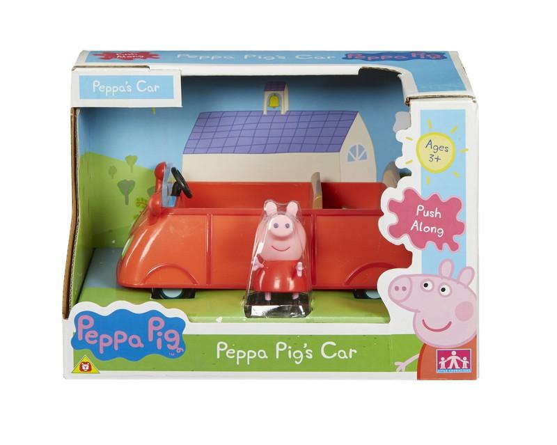 CHARACTER PEPPA PIG Pipsa Possu Ajoneuvo - Punainen Auto