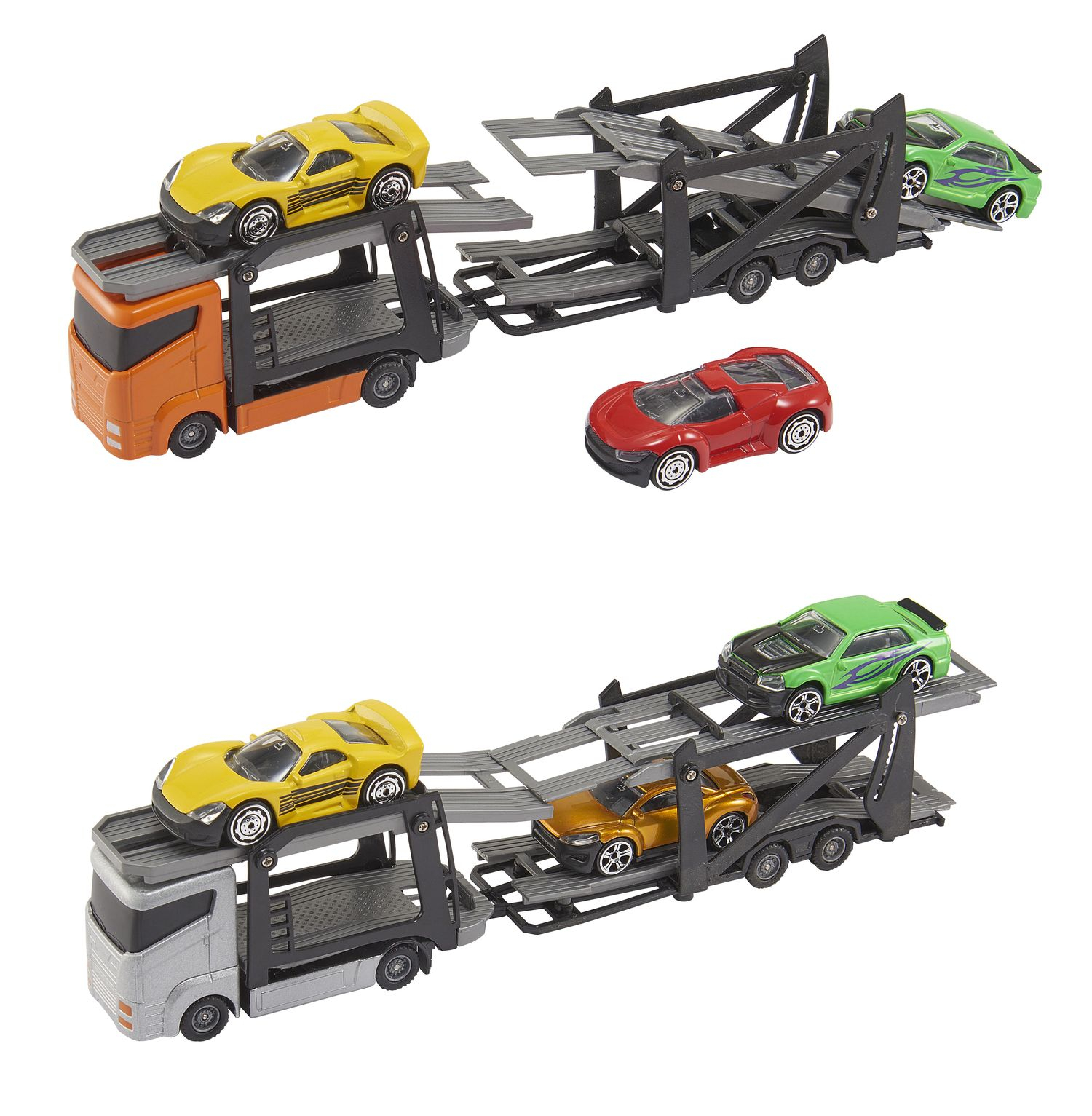 "HTI TEAMSTERZ 3"" Car Transporter with Car"