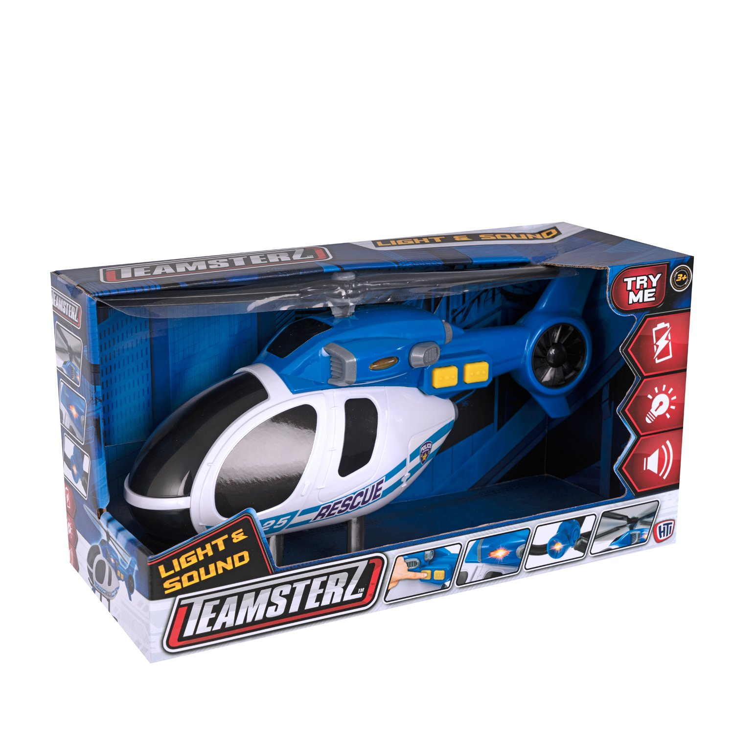 HTI TEAMSTERZ Helicopter with Light and Sound