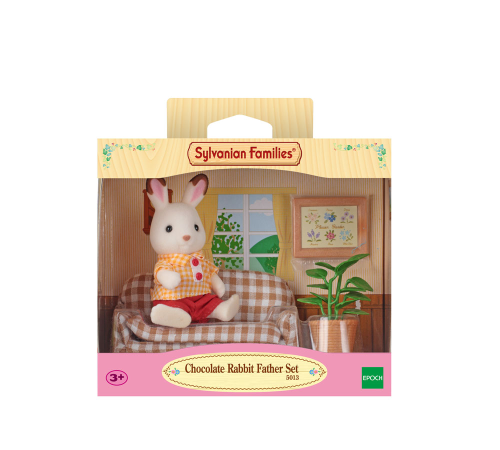 SYLVANIAN FAMILIES CHOCOLATE RABBIT FATHER & SETTEE