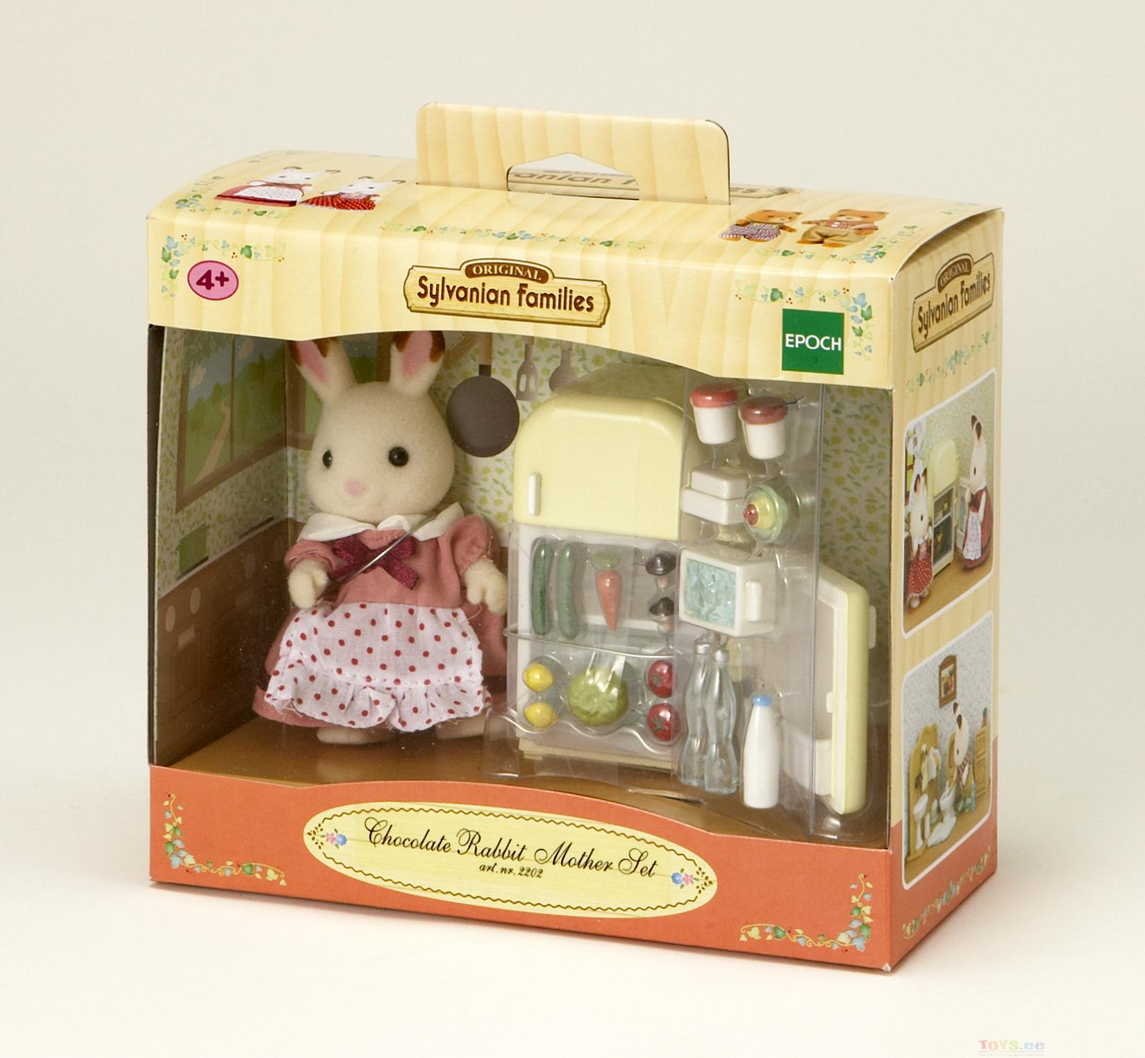 SYLVANIAN FAMILIES CHOCOLATE RABBIT MOTHER & FRIDGE