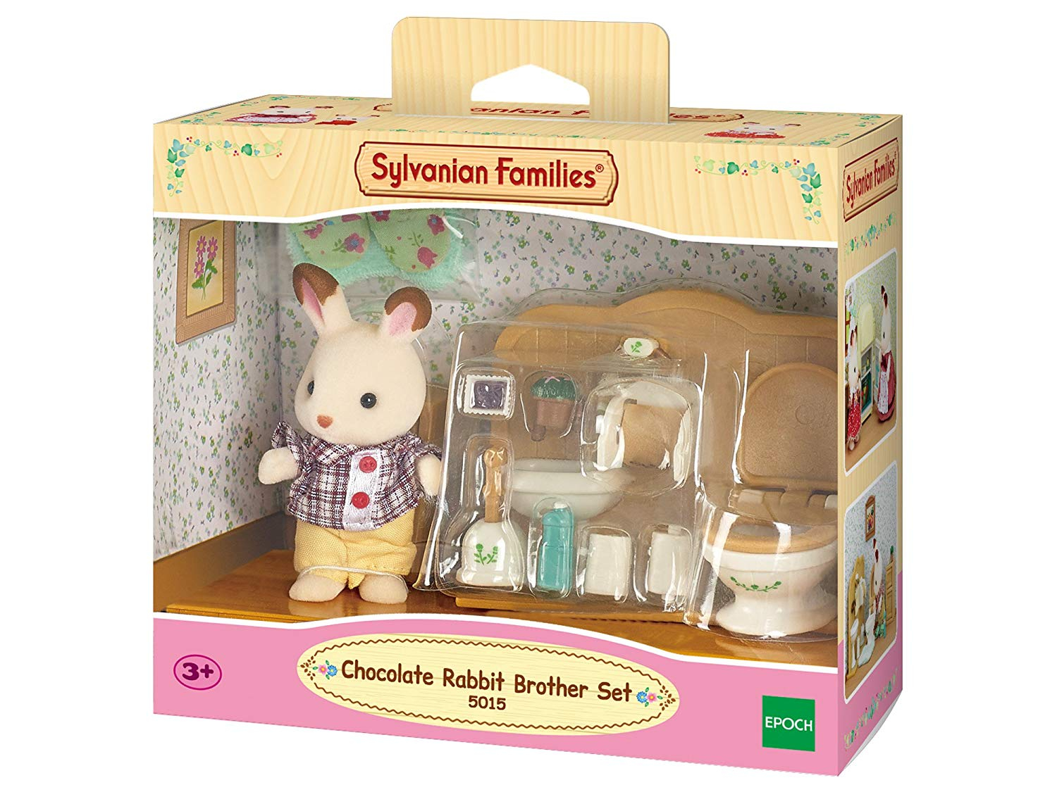 SYLVANIAN FAMILIES CHOCOLATE RABBIT BROTHER & WASHROOM