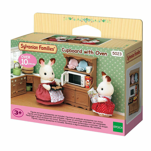 SYLVANIAN FAMILIES CUPBOARD WITH OWEN
