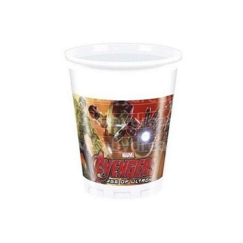 AVENGERS PLASTIC CUPS 200 ML (8PCS)