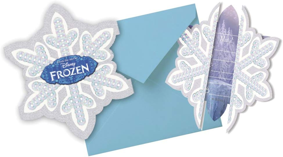 FROZEN DIE-CUT INVITATIONS & ENVELOPES (6PCS)