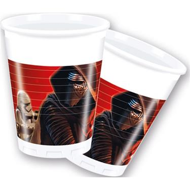 STAR WARS PLASTIC CUPS 200ML 8PSC