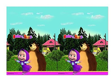 MASHA AND THE BEAR PLASTIC TABLECOVER 120X180CM