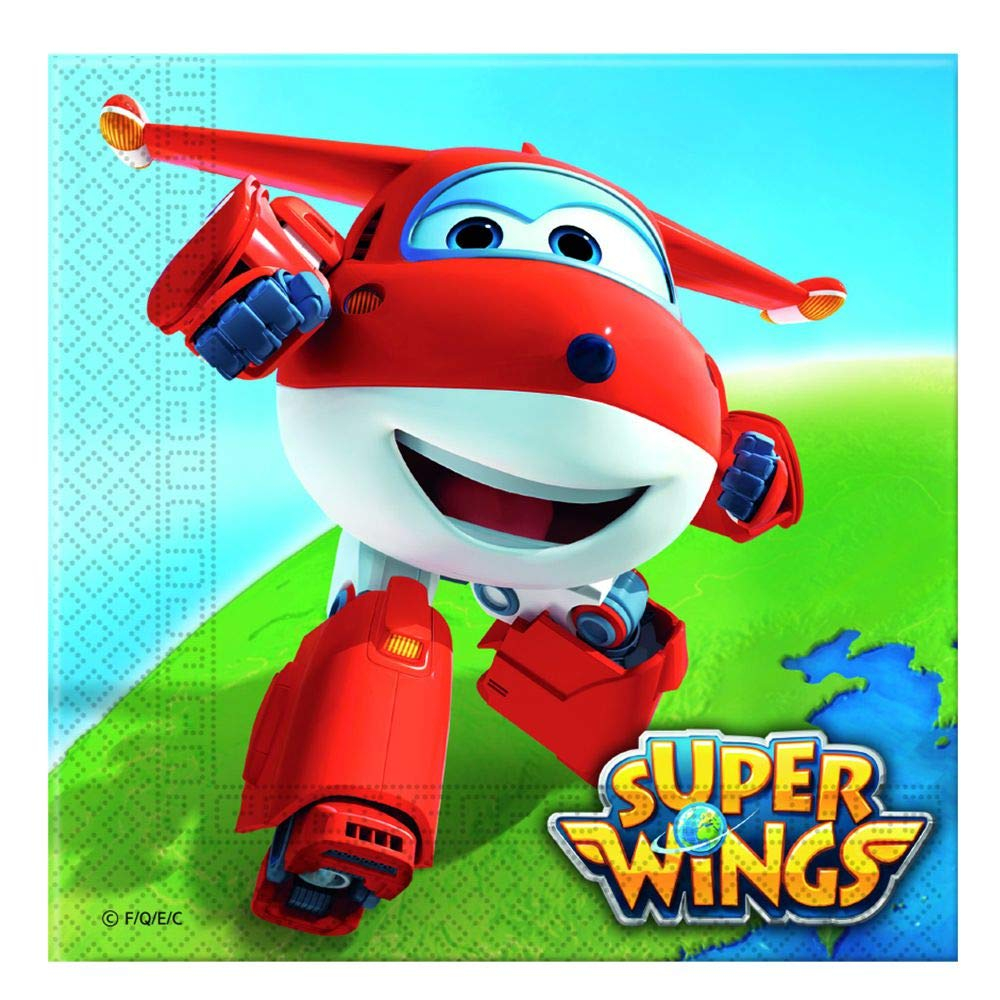 SUPER WINGS TWO-PLY PAPER NAPKINS 33X33CM 20PSC