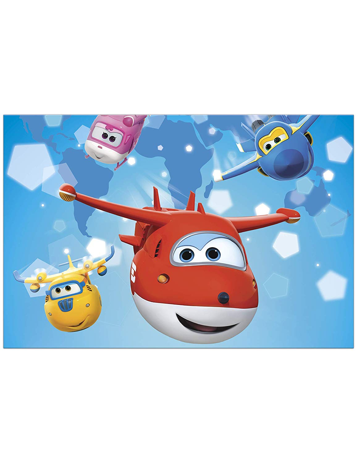 SUPER WINGS PLASTIC TABLECOVER 120X180CM