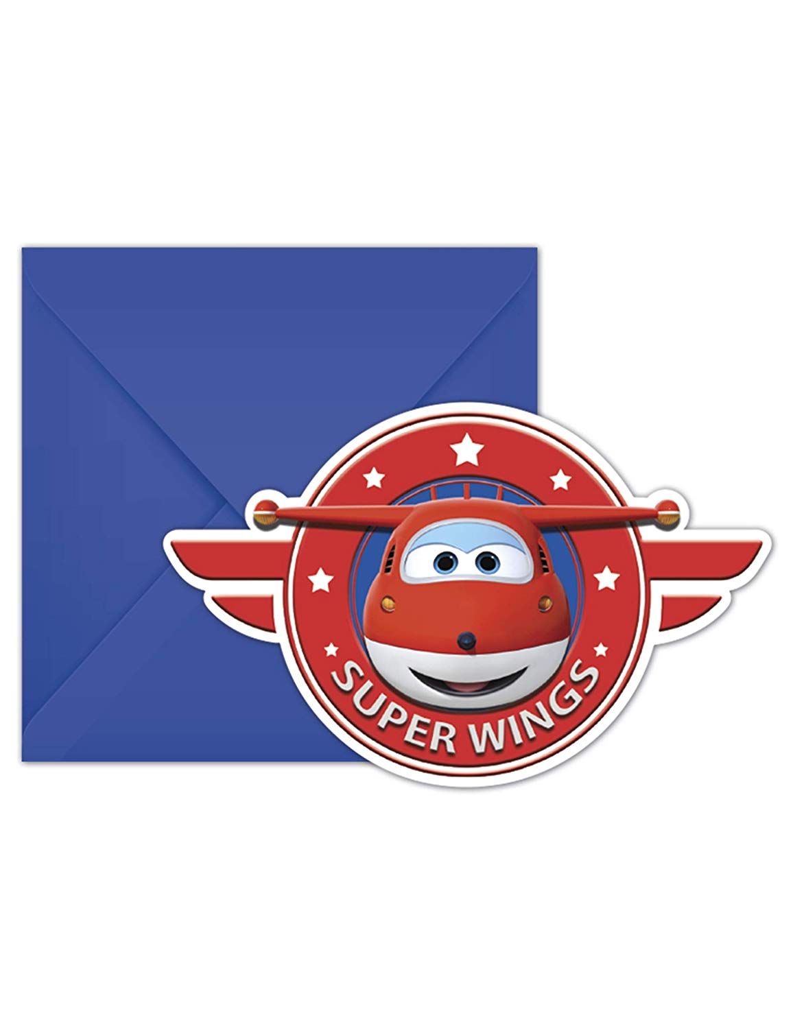 SUPER WINGS INVITATIONS & ENVELOPES