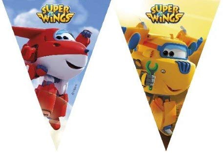 SUPER WINGS TRIANGLE FLAG BANNER 9PSC