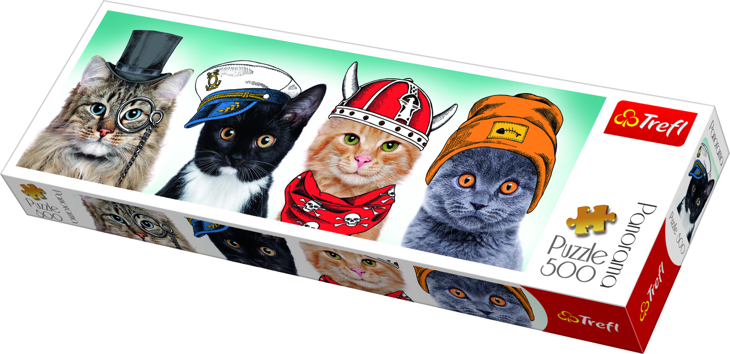 PANORAMIC PUZZLE 500 CATS