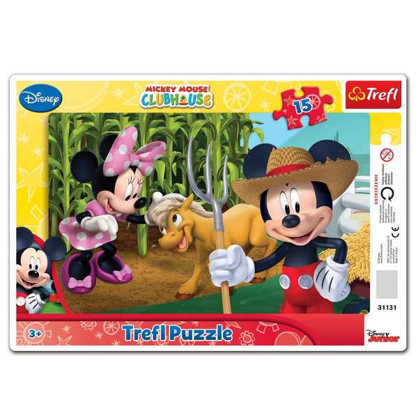 PUZZLE 15 MICKEY AND MINNIE MOUSE