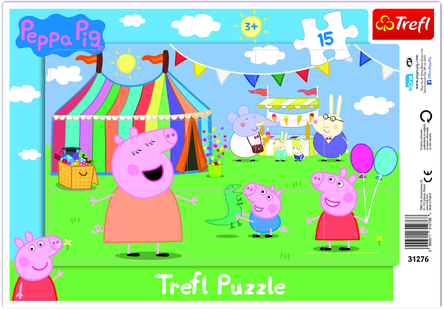 PUZZLE 15 PEPPA THE PIG
