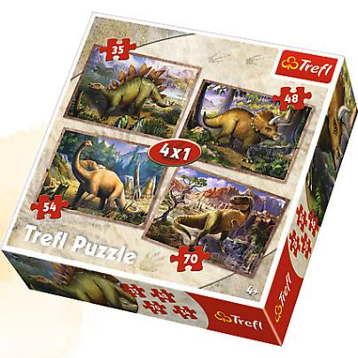 TREFL Palapelisetti 4in1 Dinosaurukset