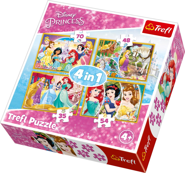 PUZZLE SET 4 IN 1 35+48+54+70 PRINCESSES
