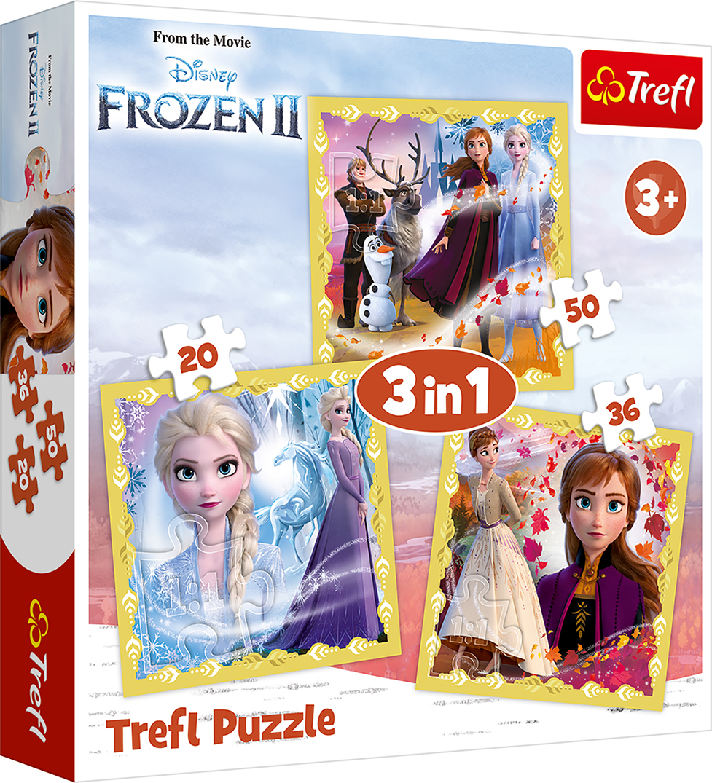 TREFL Palapelisetti Frozen 2, 3 kpl pakkaus