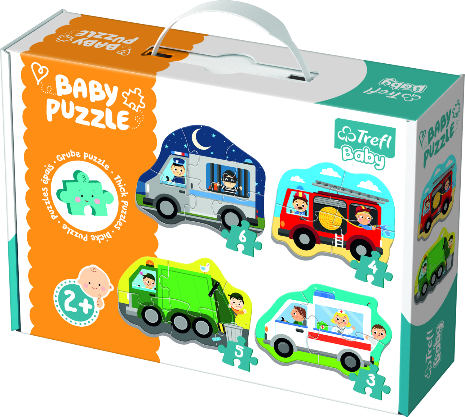 BABY PUZZLE CARS AND PROFESSIONS