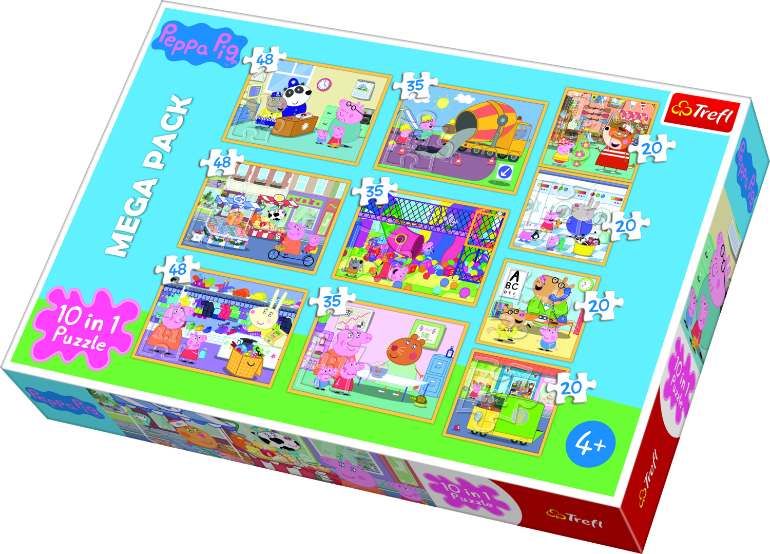 Puzzle Set 10 in 1 Peppa