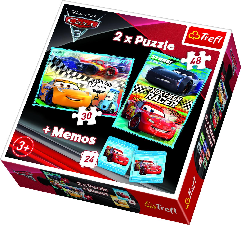 PUZZLE 30+48 + MEMO 24 CARS 3
