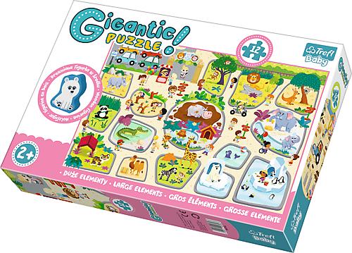 TR Giga Puzzle Jättipalapeli Eläintarha