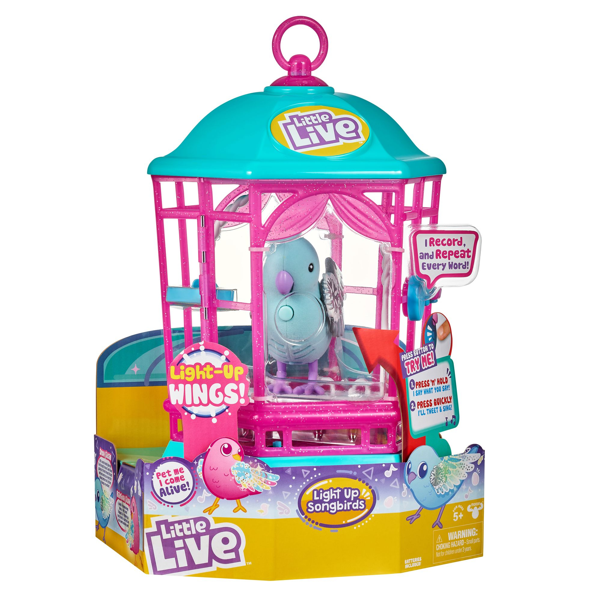 MOOSE LITTLE LIVE Bird with Cage