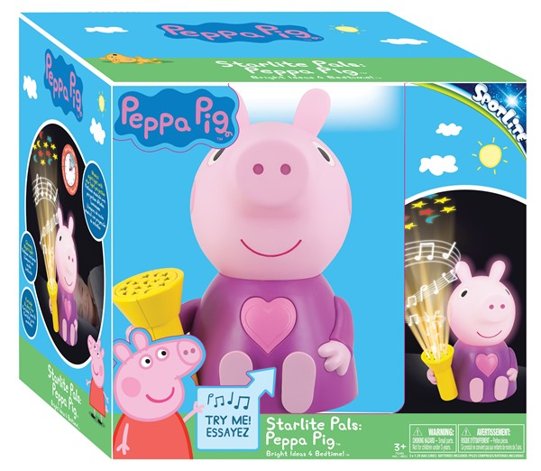 BASIC FUN Starlight Pal Peppa Pig lamppu
