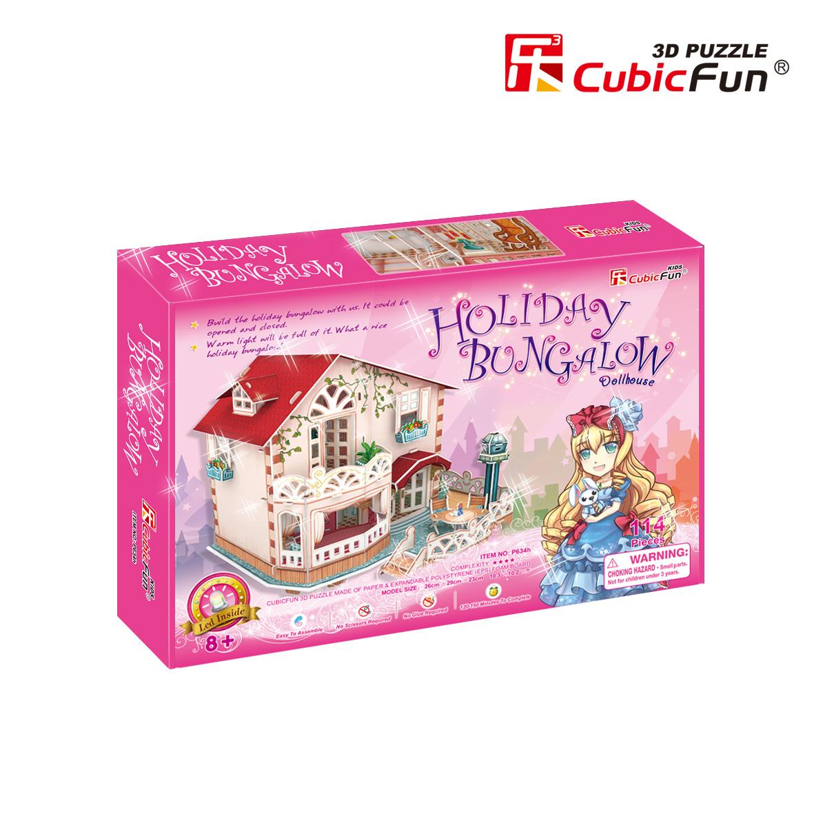 CubicFun 3D puzzle HOLIDAY BUNGALOW DOLLHOUSE