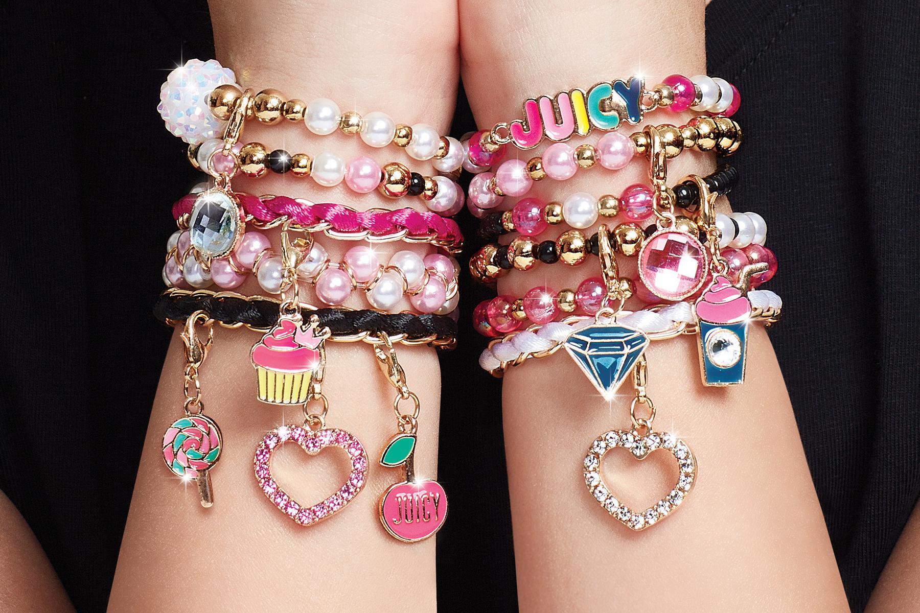 MAKE IT REAL Juicy Couture Käsitöö Komplekt - Roosad käevõrud